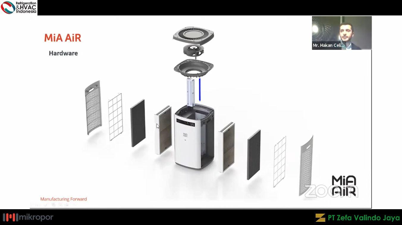 mia air purifier - komponen filter hepa